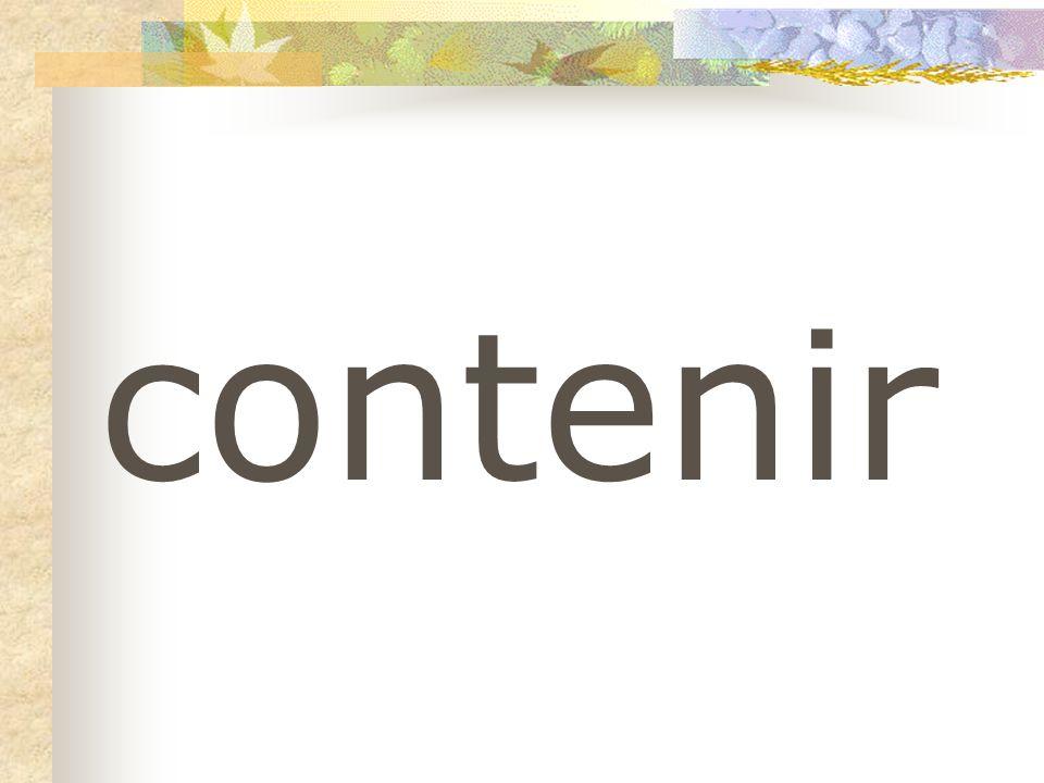 contenir