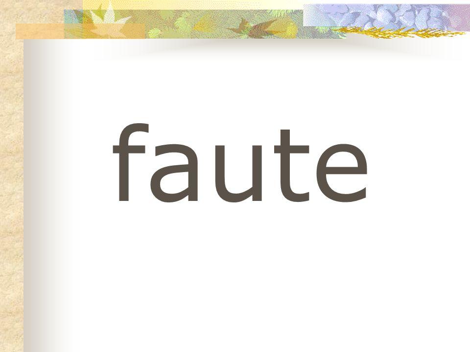 faute