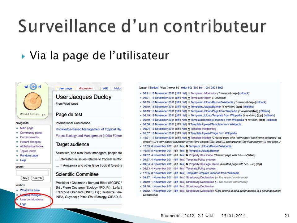 Via la page de lutilisateur 15/01/2014Boumerdès 2012, 2.1 wikis21