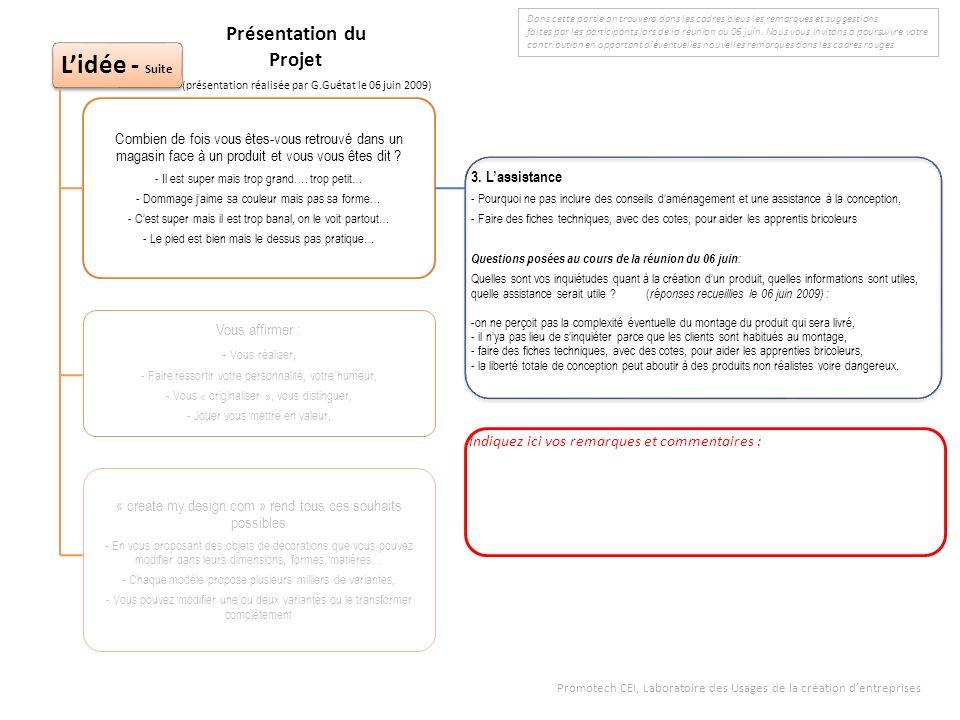 3. Lassistance - Pourquoi ne pas inclure des conseils daménagement et une assistance à la conception, - Faire des fiches techniques, avec des cotes, p