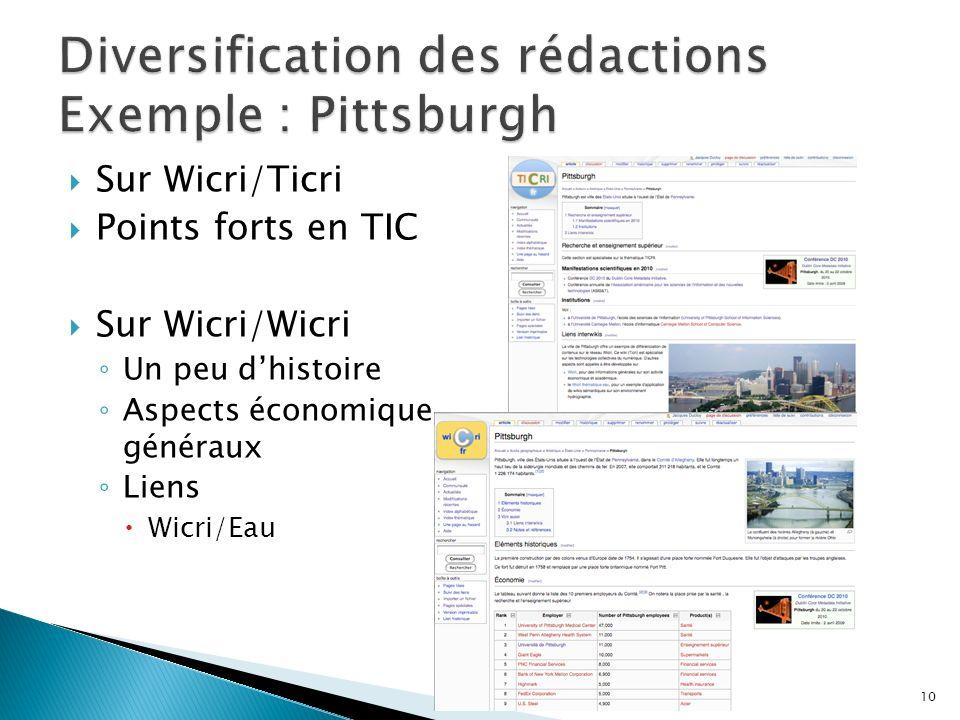 Sur Wicri/Ticri Points forts en TIC Sur Wicri/Wicri Un peu dhistoire Aspects économique généraux Liens Wicri/Eau 15/01/2014Boumerdès 2012, 3.1 réseaux