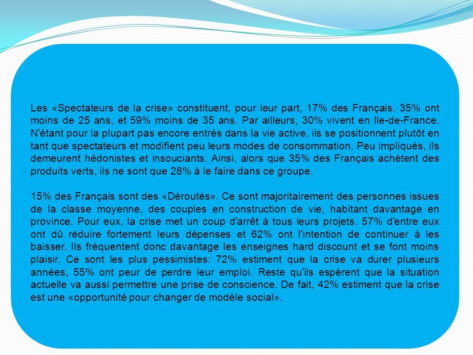 Les «Spectateurs de la crise» constituent, pour leur part, 17% des Français.