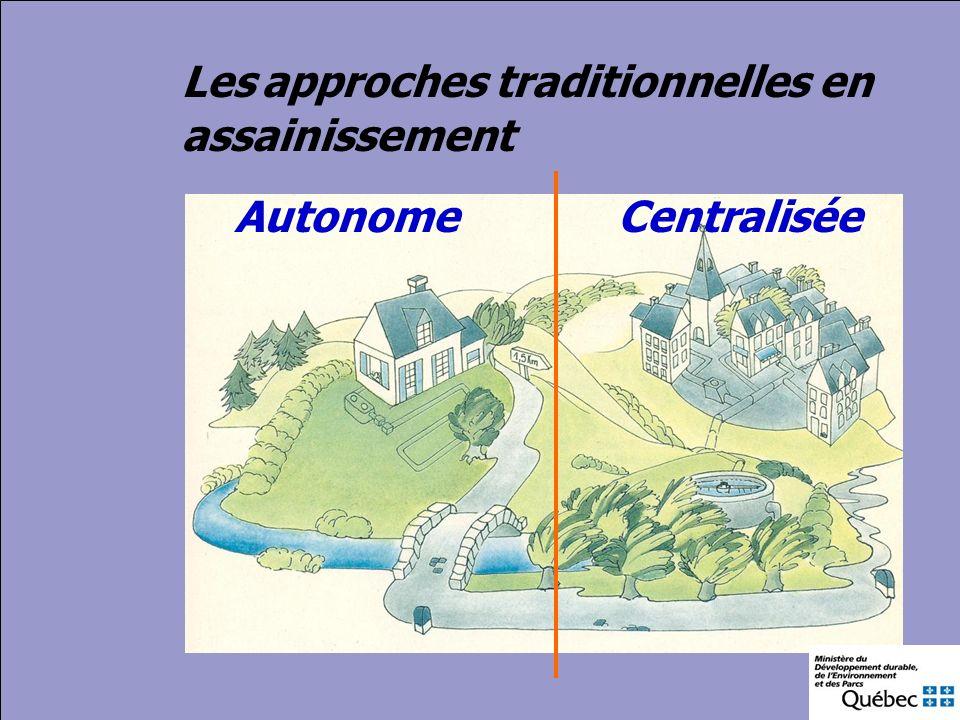 Les approches traditionnelles en assainissement Autonome Centralisée