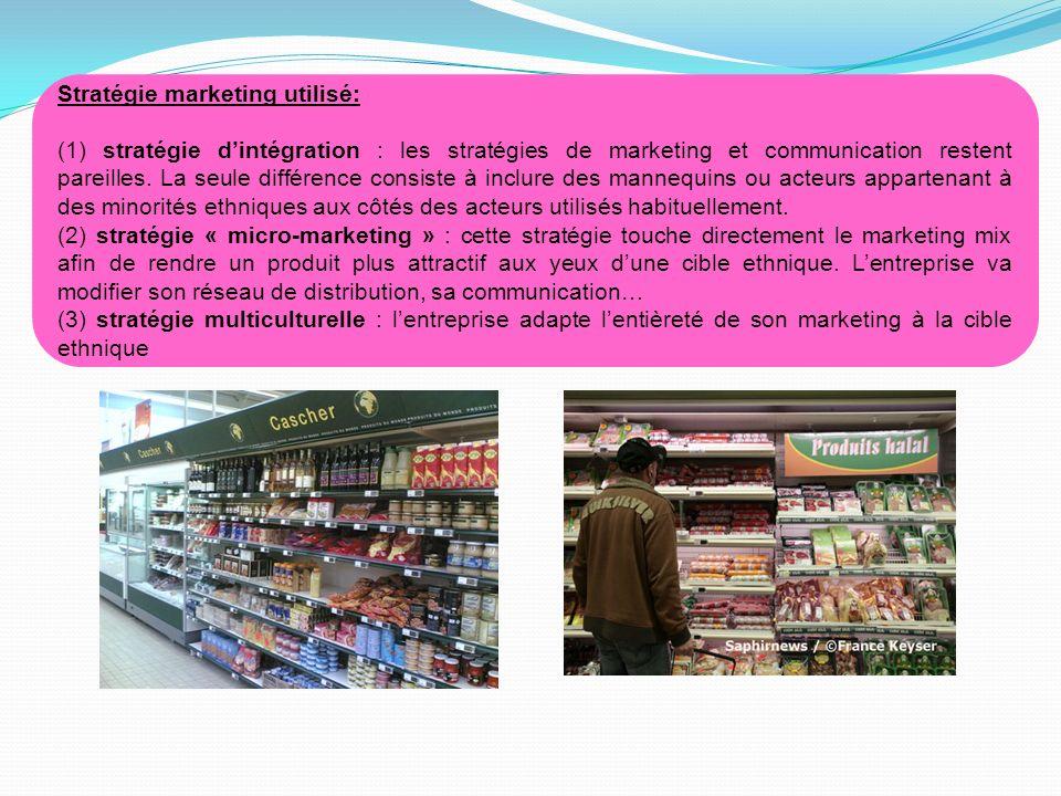 Stratégie marketing utilisé: (1) stratégie dintégration : les stratégies de marketing et communication restent pareilles. La seule différence consiste