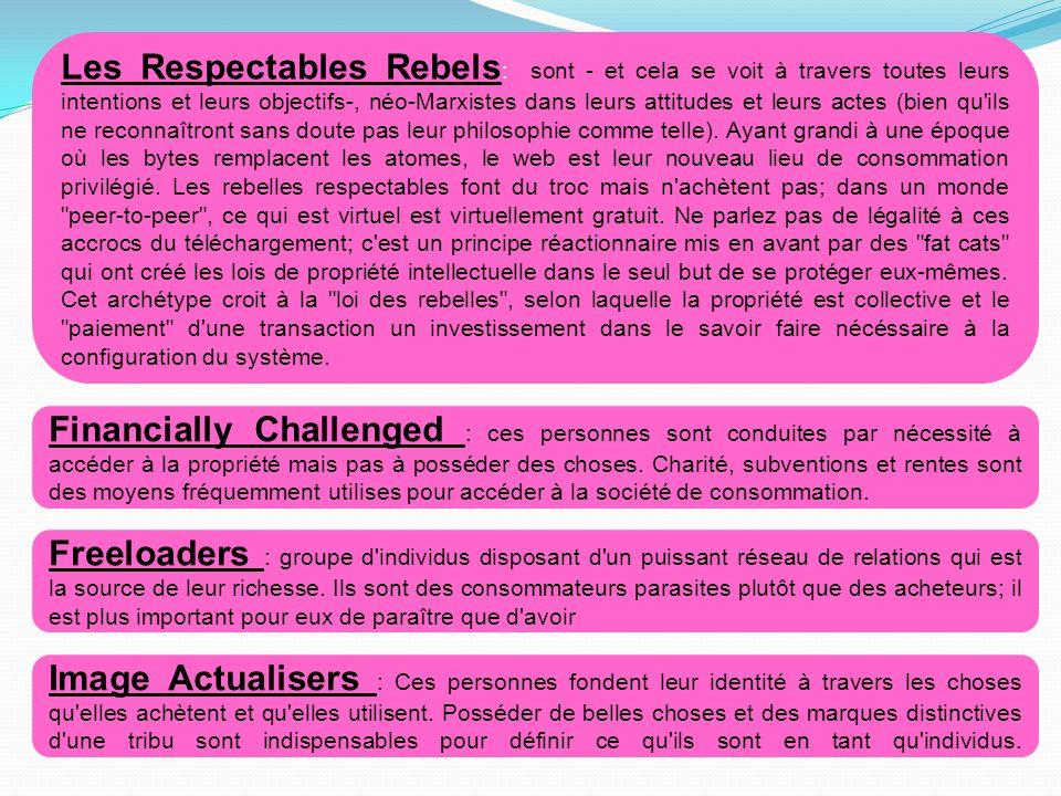 Les Respectables Rebels : sont - et cela se voit à travers toutes leurs intentions et leurs objectifs-, néo-Marxistes dans leurs attitudes et leurs ac
