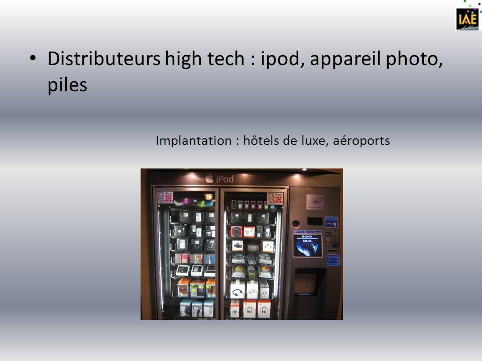 Distributeurs de sandwiches chauds Implantation : centres ville, gares, aéroports, stations de métro