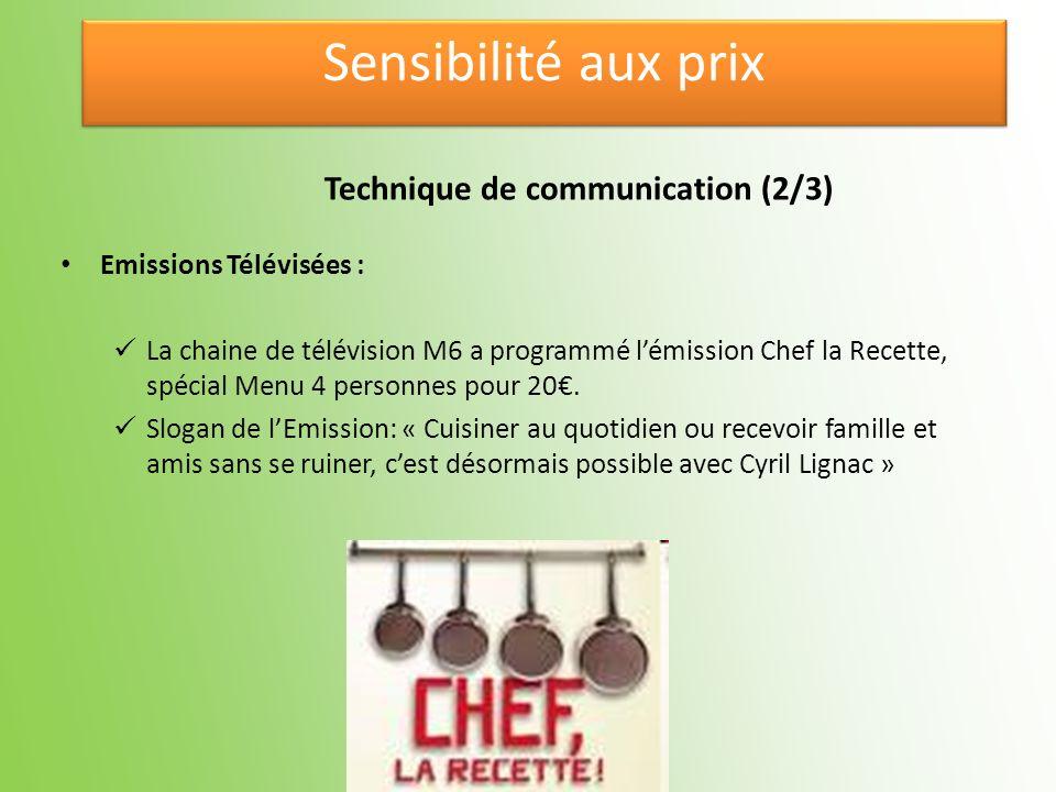 Emissions Télévisées : La chaine de télévision M6 a programmé lémission Chef la Recette, spécial Menu 4 personnes pour 20. Slogan de lEmission: « Cuis