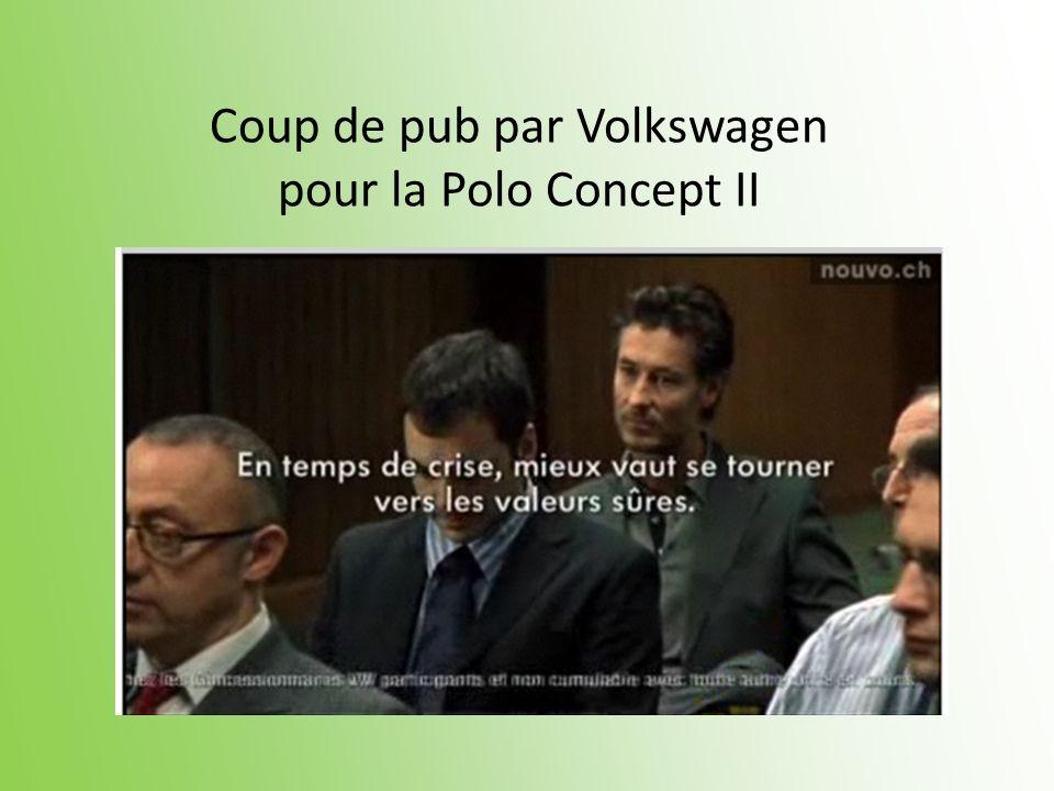Coup de pub par Volkswagen pour la Polo Concept II