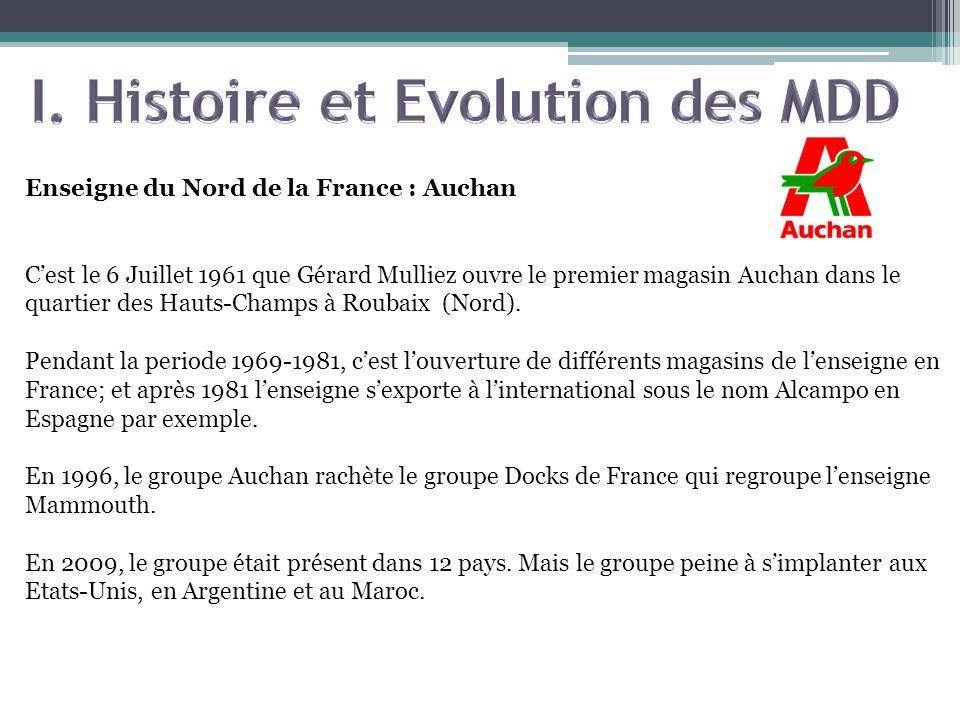 Enseigne du Nord de la France : Auchan Cest le 6 Juillet 1961 que Gérard Mulliez ouvre le premier magasin Auchan dans le quartier des Hauts-Champs à R