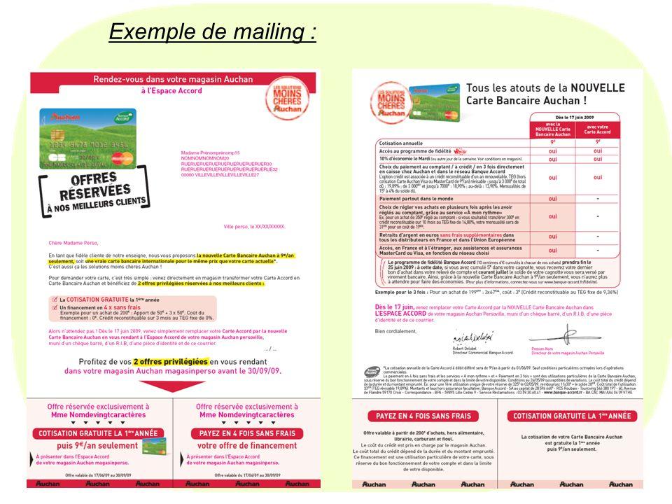 26 Exemple de mailing :