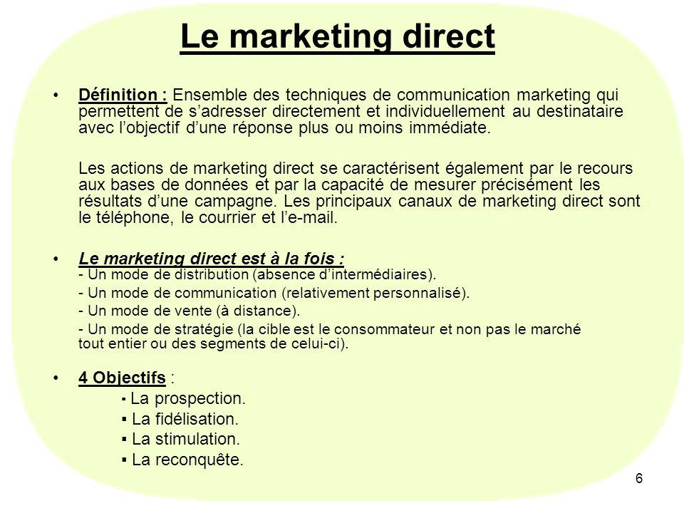 7 Qui peut avoir recours au marketing direct .Quelles entreprises .