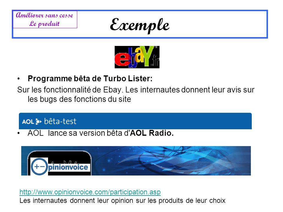 Exemple Programme bêta de Turbo Lister: Sur les fonctionnalité de Ebay. Les internautes donnent leur avis sur les bugs des fonctions du site AOL lance