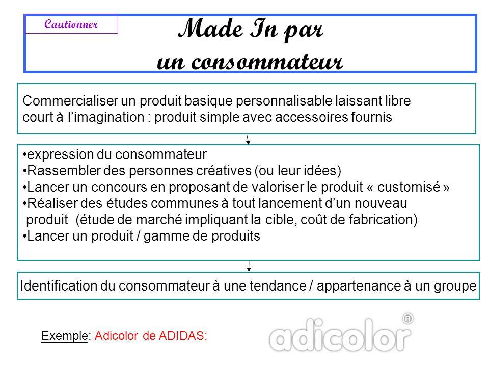 Made In par un consommateur Commercialiser un produit basique personnalisable laissant libre court à limagination : produit simple avec accessoires fo