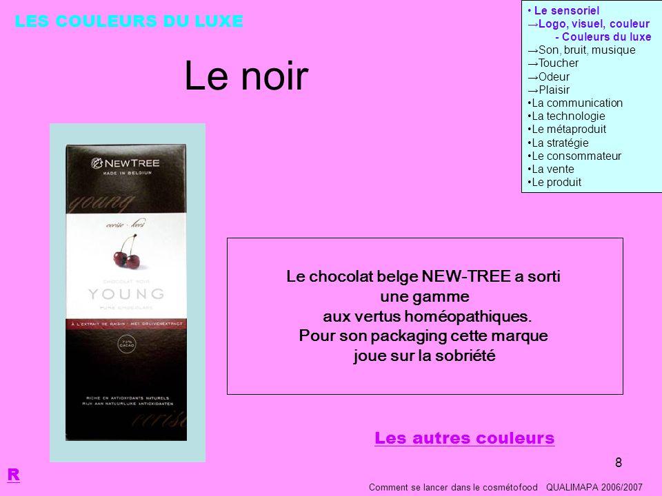 8 Le noir Le chocolat belge NEW-TREE a sorti une gamme aux vertus homéopathiques.