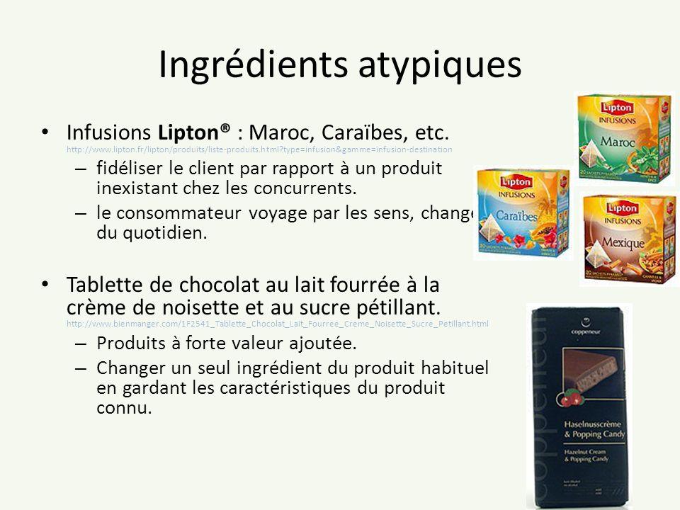 Ingrédients atypiques Infusions Lipton® : Maroc, Caraïbes, etc. http://www.lipton.fr/lipton/produits/liste-produits.html?type=infusion&gamme=infusion-