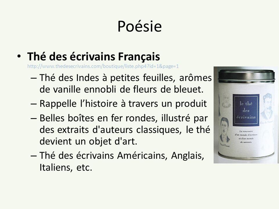 Poésie Thé des écrivains Français http://www.thedesecrivains.com/boutique/liste.php4?id=1&page=1 – Thé des Indes à petites feuilles, arômes de vanille