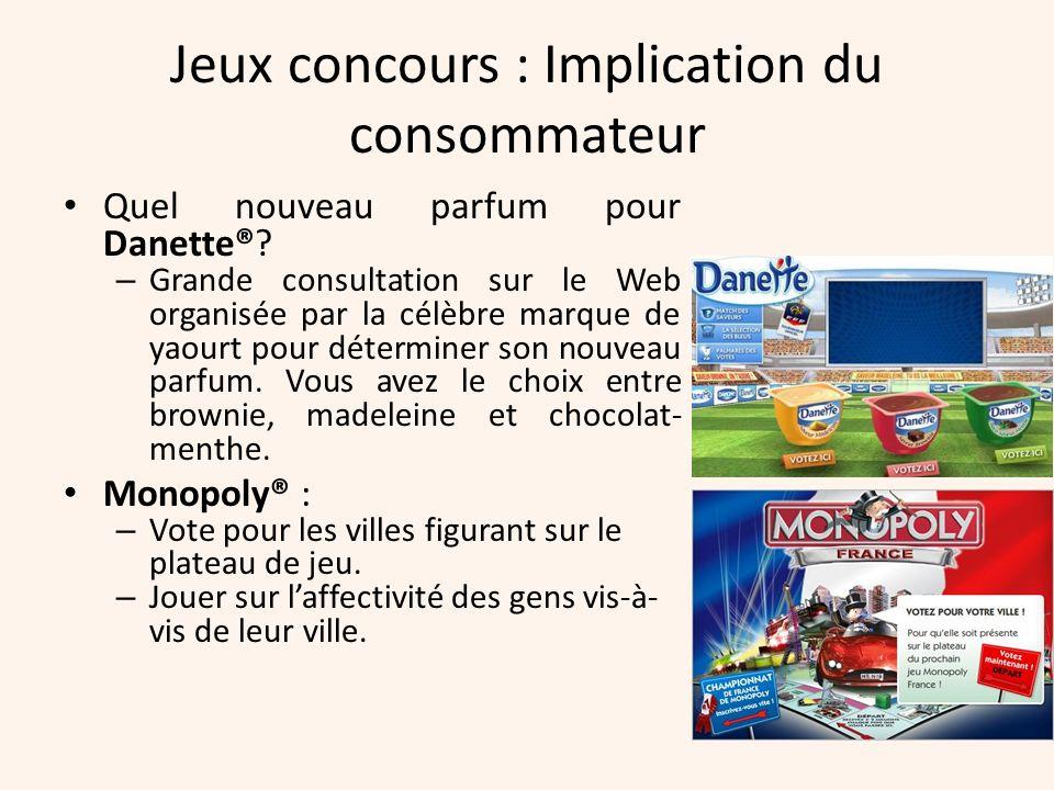Jeux concours : Implication du consommateur Quel nouveau parfum pour Danette®? – Grande consultation sur le Web organisée par la célèbre marque de yao