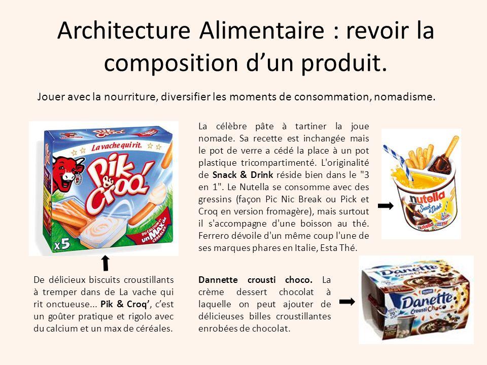 Architecture Alimentaire : revoir la composition dun produit. De délicieux biscuits croustillants à tremper dans de La vache qui rit onctueuse... Pik