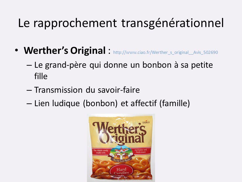 Le rapprochement transgénérationnel Werthers Original : http://www.ciao.fr/Werther_s_original__Avis_502690 – Le grand-père qui donne un bonbon à sa pe