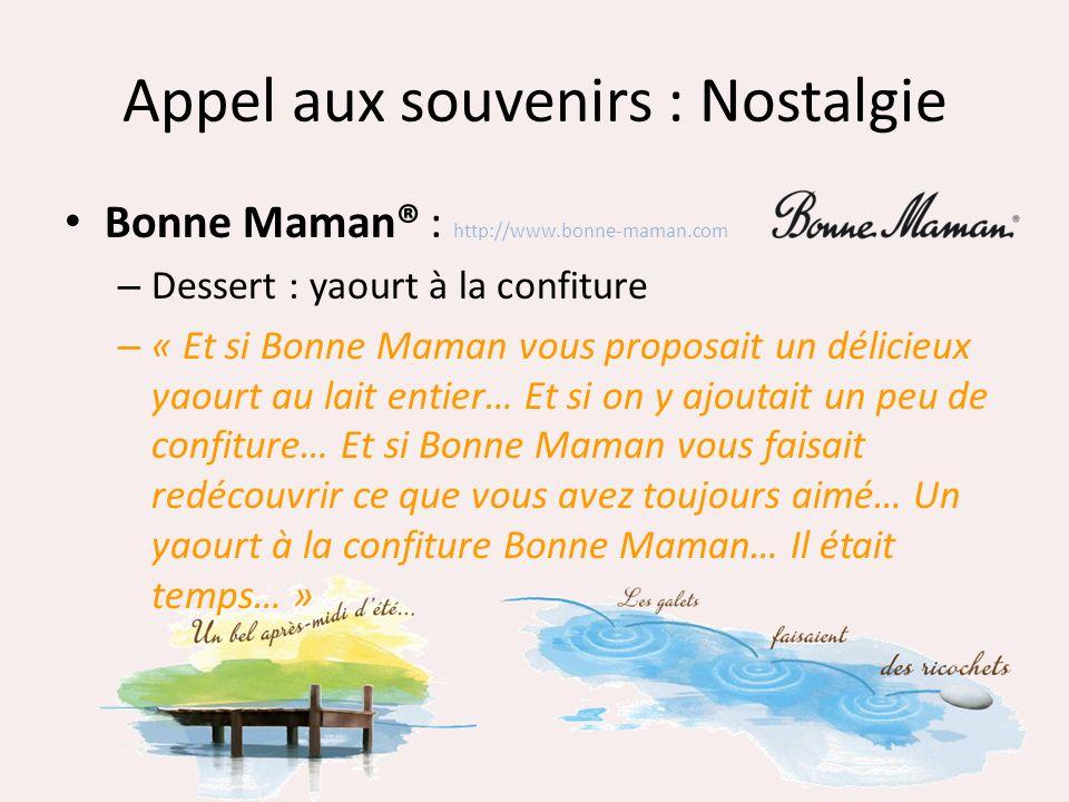 Appel aux souvenirs : Nostalgie Bonne Maman® : http://www.bonne-maman.com – Dessert : yaourt à la confiture – « Et si Bonne Maman vous proposait un dé