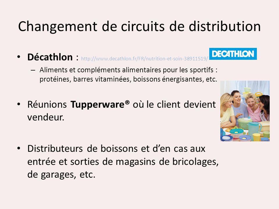 Changement de circuits de distribution Décathlon : http://www.decathlon.fr/FR/nutrition-et-soin-38911519/ – Aliments et compléments alimentaires pour