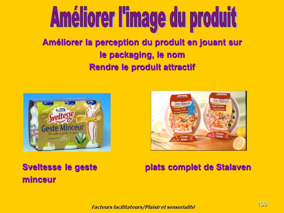 100 Améliorer la perception du produit en jouant sur le packaging, le nom Rendre le produit attractif Sveltesse le geste plats complet de Stalaven Sve