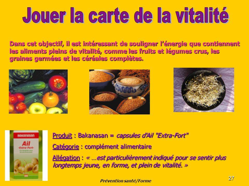 27 Dans cet objectif, il est intéressant de souligner lénergie que contiennent les aliments pleins de vitalité, comme les fruits et légumes crus, les