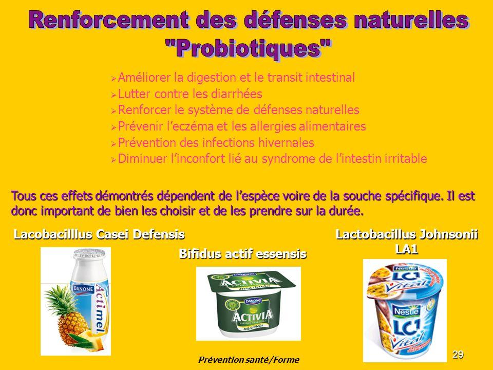 29 Améliorer la digestion et le transit intestinal Lutter contre les diarrhées Renforcer le système de défenses naturelles Prévenir leczéma et les all