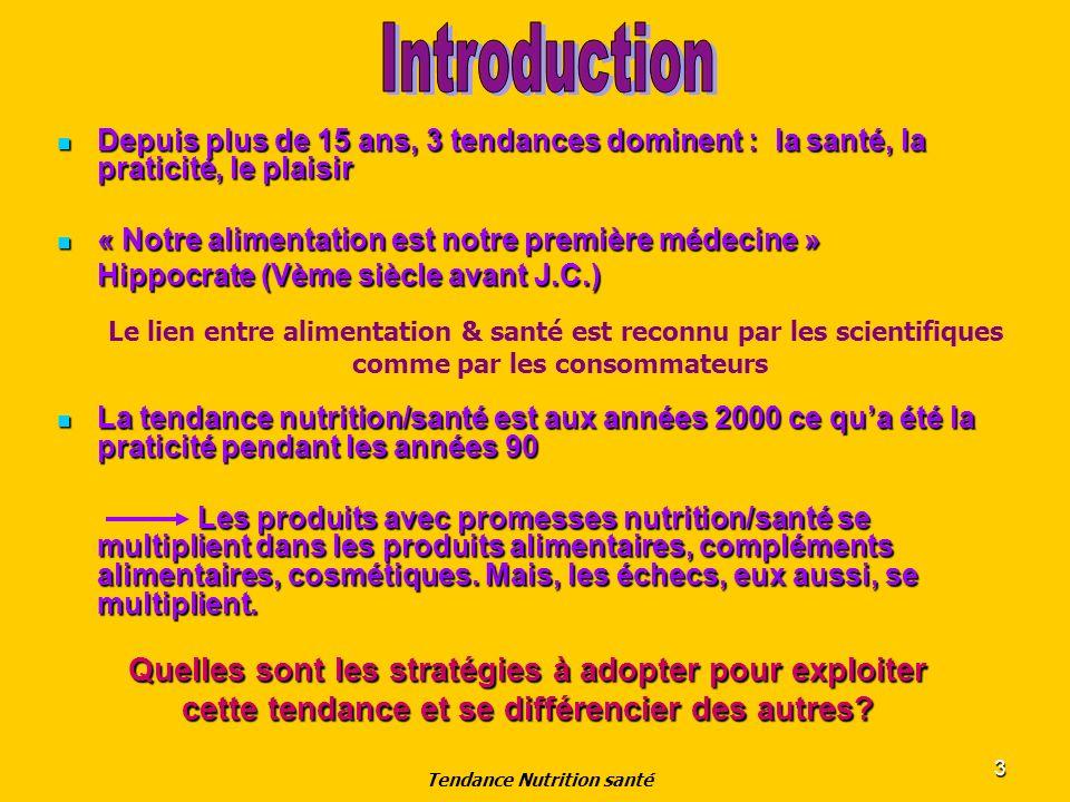 4 Présentation Bénéfices associés à la Nutrition Santé Bénéfices associés à la Nutrition Santé Aspect Réglementaire Aspect Réglementaire Enjeux Marketing Enjeux Marketing