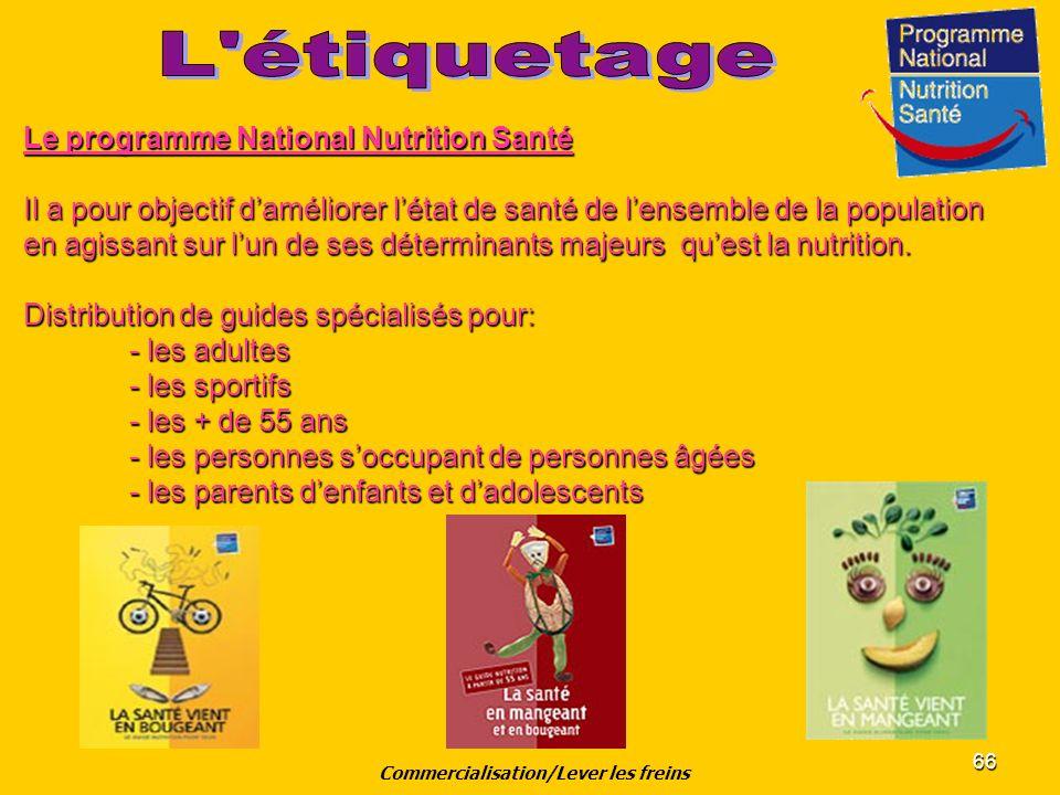 66 Le programme National Nutrition Santé Il a pour objectif daméliorer létat de santé de lensemble de la population en agissant sur lun de ses détermi
