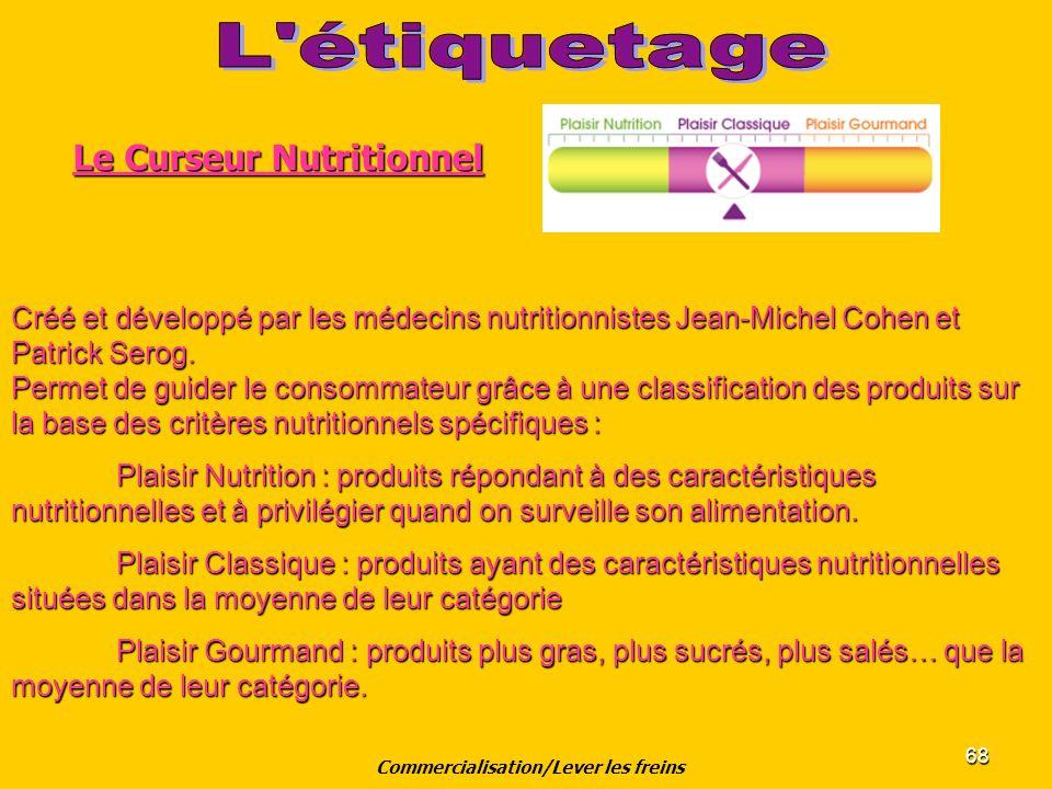 68 Créé et développé par les médecins nutritionnistes Jean-Michel Cohen et Patrick Serog. Permet de guider le consommateur grâce à une classification