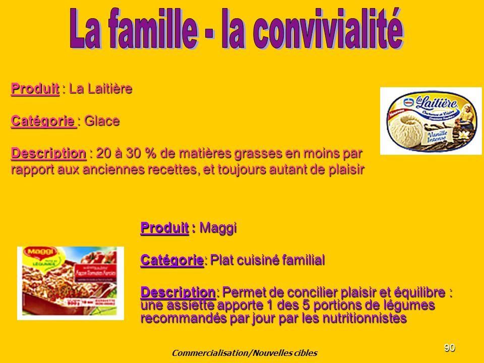 90 Produit : La Laitière Catégorie : Glace Description : 20 à 30 % de matières grasses en moins par rapport aux anciennes recettes, et toujours autant