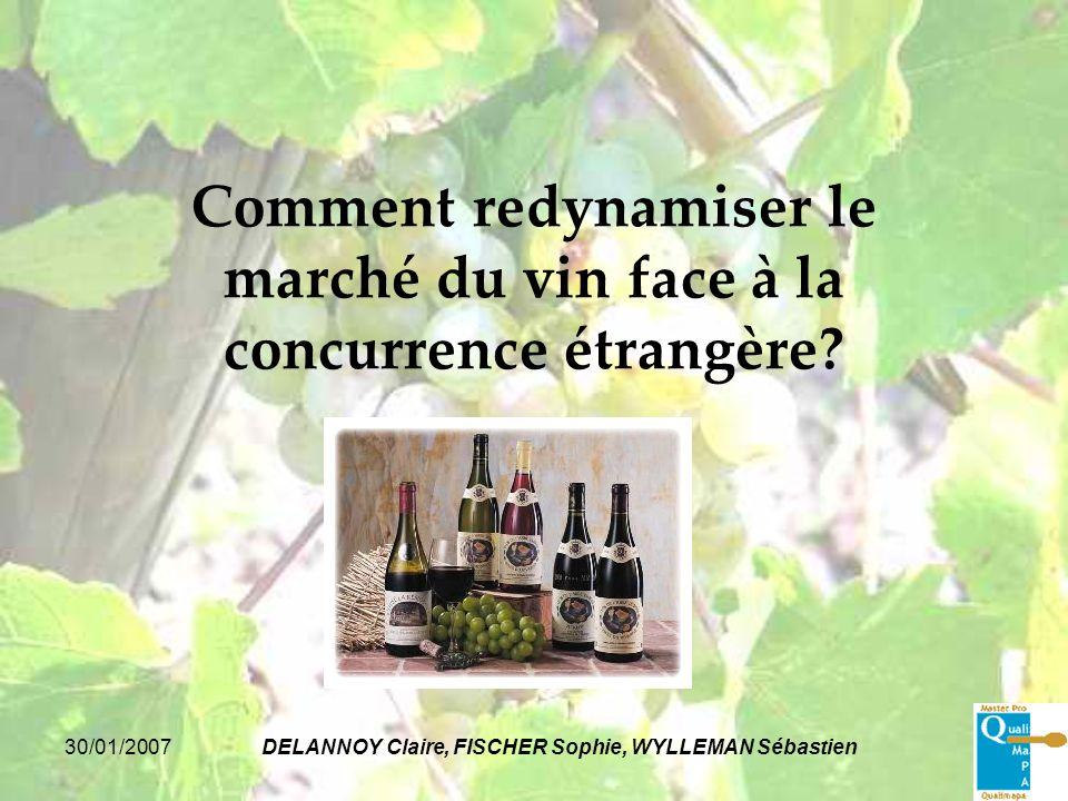 30/01/2007DELANNOY Claire, FISCHER Sophie, WYLLEMAN Sébastien Comment redynamiser le marché du vin face à la concurrence étrangère?