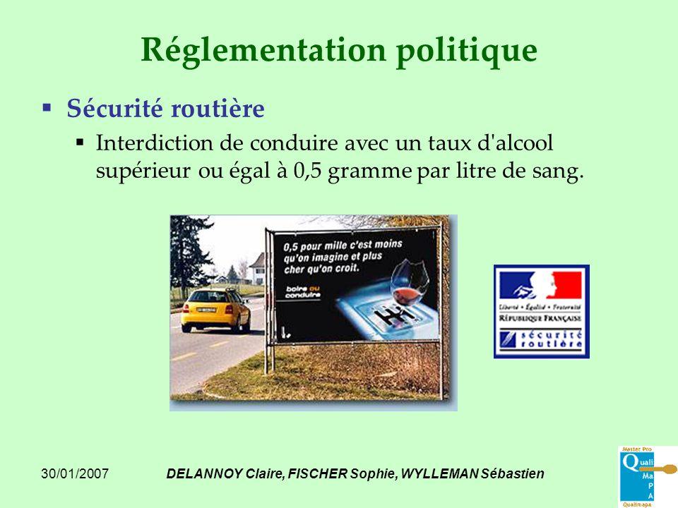 30/01/2007DELANNOY Claire, FISCHER Sophie, WYLLEMAN Sébastien Réglementation politique Sécurité routière Interdiction de conduire avec un taux d'alcoo