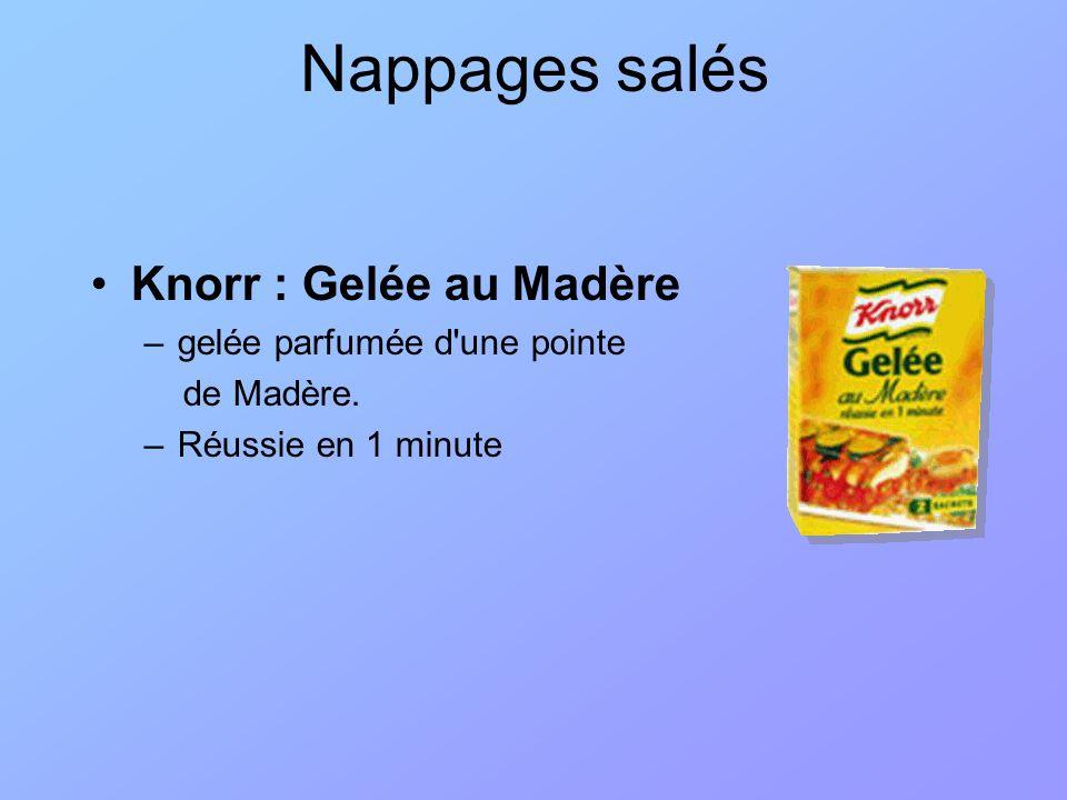 Nappages salés Knorr : Gelée au Madère –gelée parfumée d'une pointe de Madère. –Réussie en 1 minute