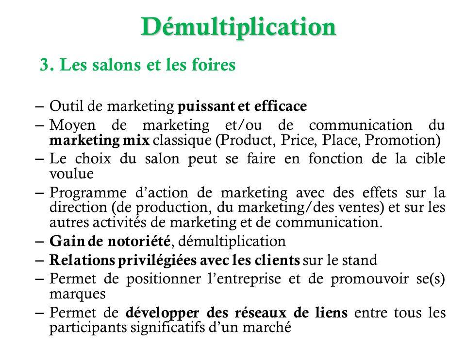 – Outil de marketing puissant et efficace – Moyen de marketing et/ou de communication du marketing mix classique (Product, Price, Place, Promotion) –