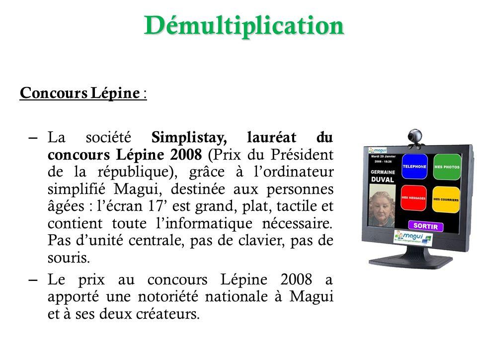 Concours Lépine : – La société Simplistay, lauréat du concours Lépine 2008 (Prix du Président de la république), grâce à lordinateur simplifié Magui,