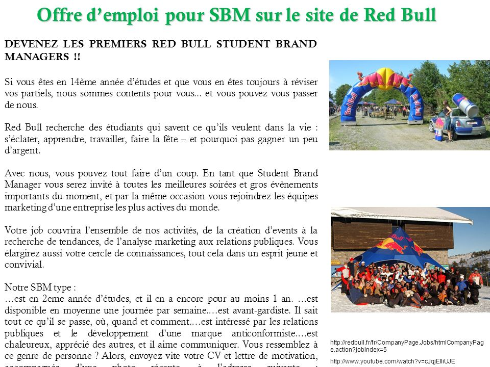 DEVENEZ LES PREMIERS RED BULL STUDENT BRAND MANAGERS !.