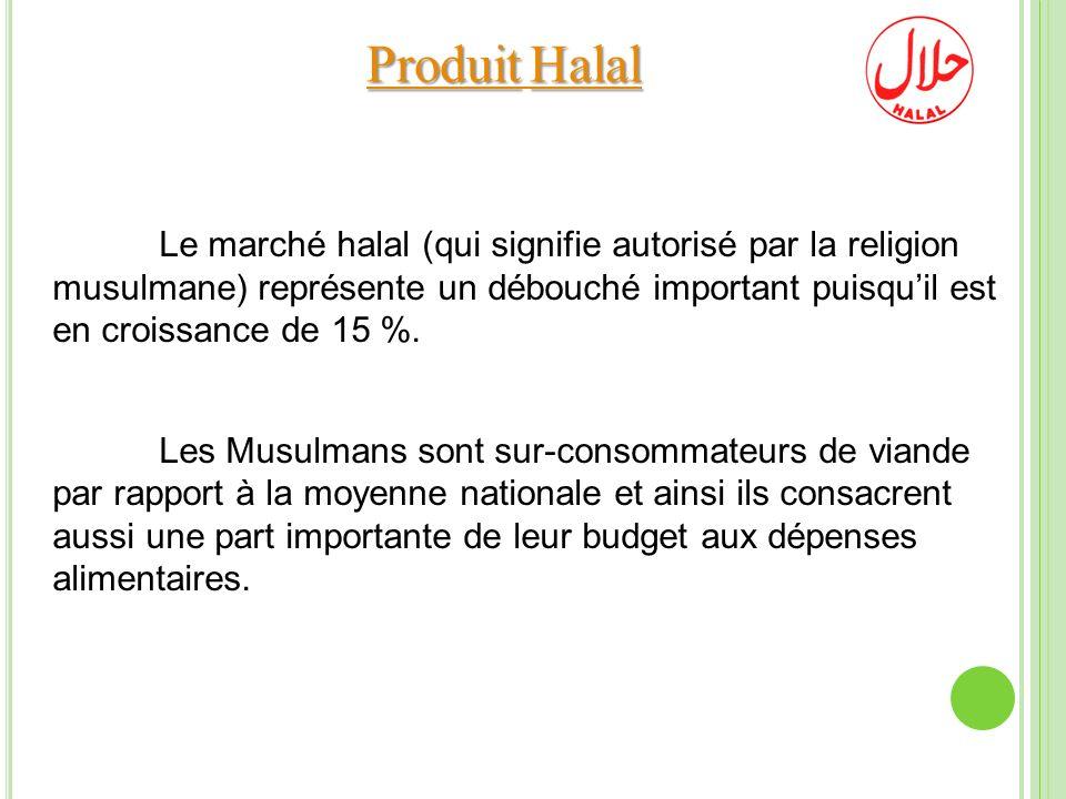ProduitHalal Produit Halal Le marché halal (qui signifie autorisé par la religion musulmane) représente un débouché important puisquil est en croissan