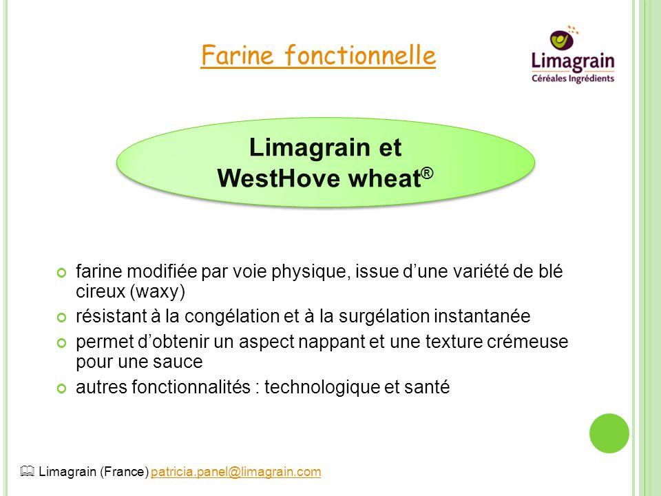farine modifiée par voie physique, issue dune variété de blé cireux (waxy) résistant à la congélation et à la surgélation instantanée permet dobtenir