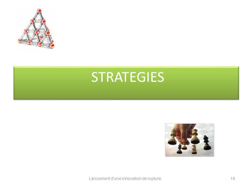 Lancement d'une innovation de rupture STRATEGIES 18