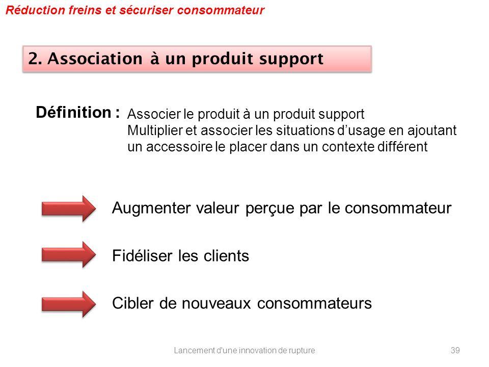 Lancement d'une innovation de rupture Associer le produit à un produit support Multiplier et associer les situations dusage en ajoutant un accessoire