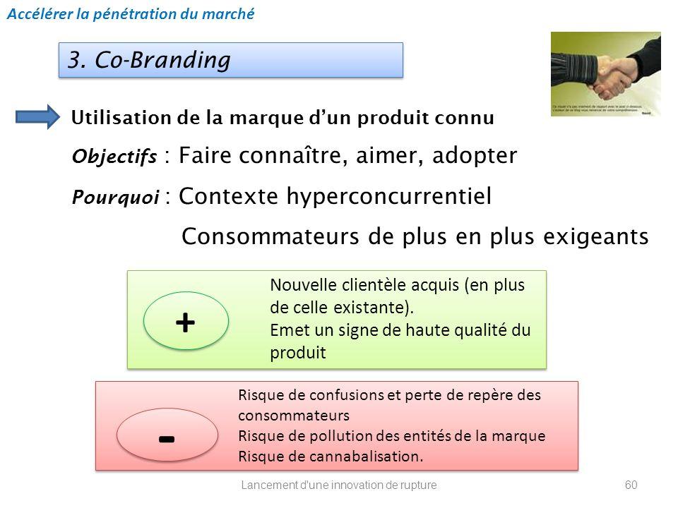 Lancement d'une innovation de rupture Utilisation de la marque dun produit connu Objectifs : Faire connaître, aimer, adopter Pourquoi : Contexte hyper