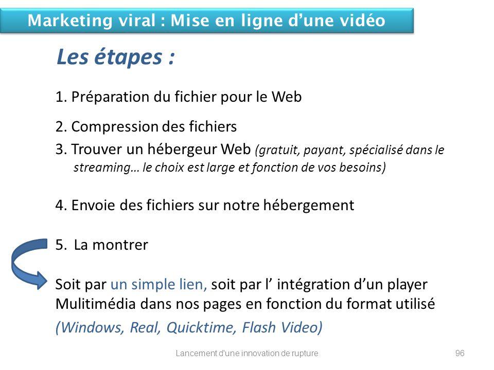 1. Préparation du fichier pour le Web 2. Compression des fichiers 3. Trouver un hébergeur Web (gratuit, payant, spécialisé dans le streaming… le choix