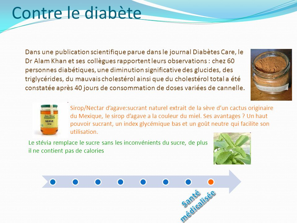 Contre le diabète Dans une publication scientifique parue dans le journal Diabètes Care, le Dr Alam Khan et ses collègues rapportent leurs observation