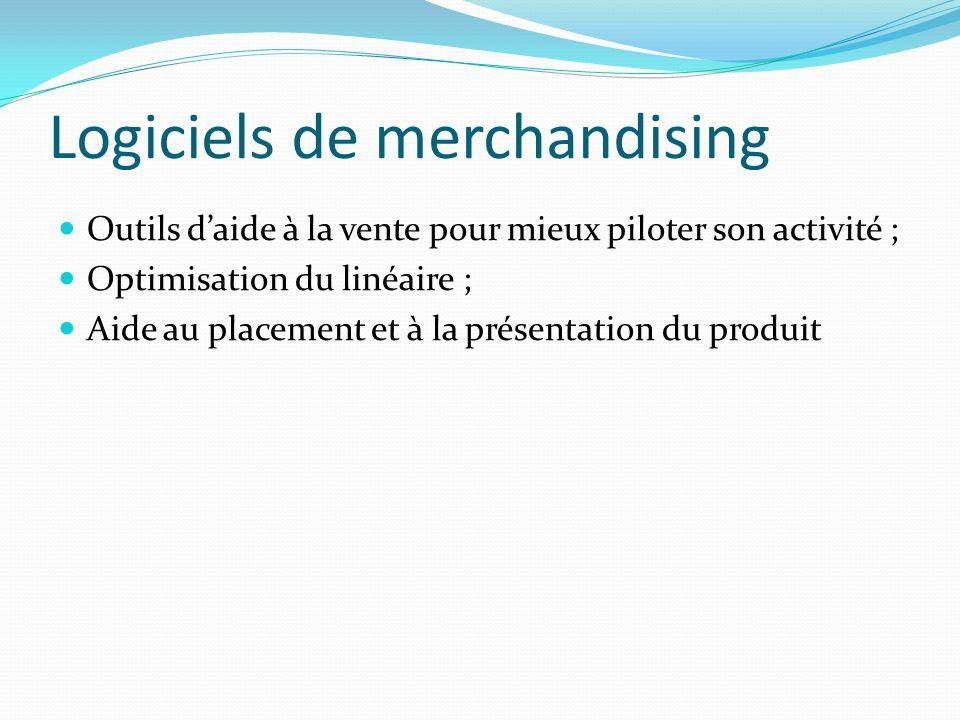 Logiciels de merchandising Outils daide à la vente pour mieux piloter son activité ; Optimisation du linéaire ; Aide au placement et à la présentation du produit