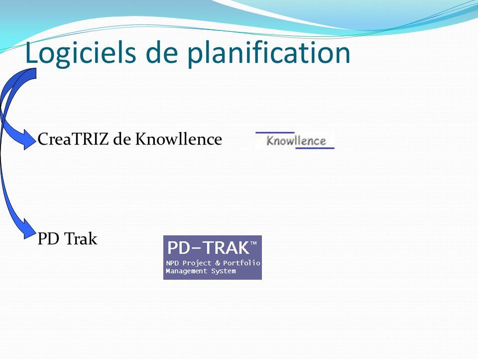 Logiciels de planification CreaTRIZ de Knowllence PD Trak