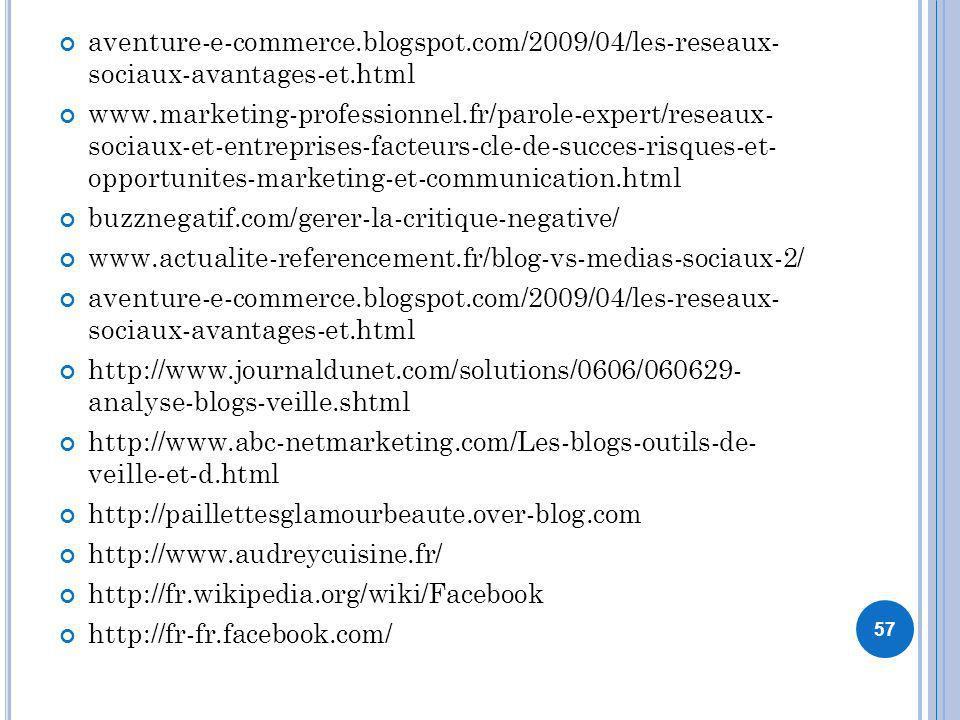 aventure-e-commerce.blogspot.com/2009/04/les-reseaux- sociaux-avantages-et.html www.marketing-professionnel.fr/parole-expert/reseaux- sociaux-et-entre