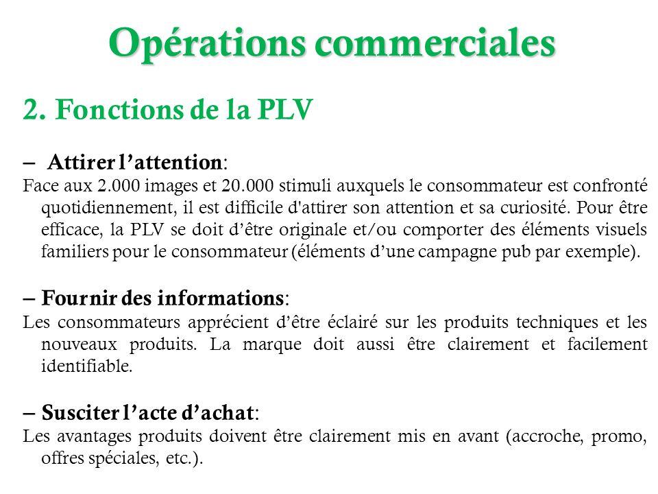 2. Fonctions de la PLV – Attirer lattention : Face aux 2.000 images et 20.000 stimuli auxquels le consommateur est confronté quotidiennement, il est d