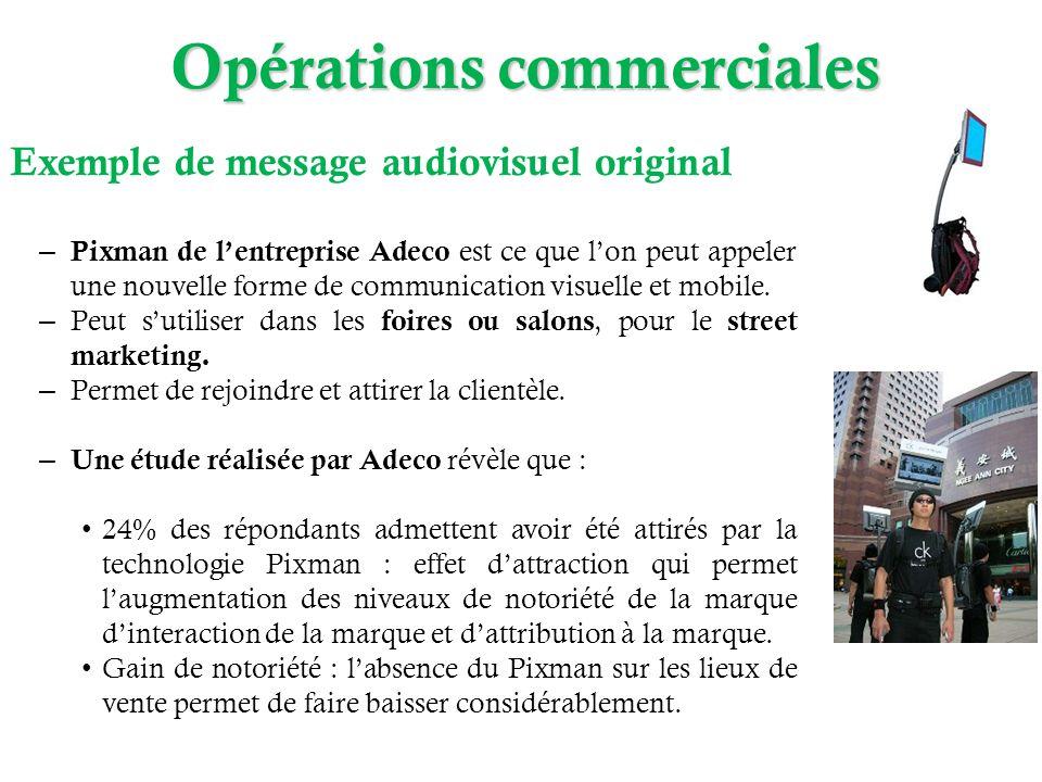 Exemple de message audiovisuel original – Pixman de lentreprise Adeco est ce que lon peut appeler une nouvelle forme de communication visuelle et mobi